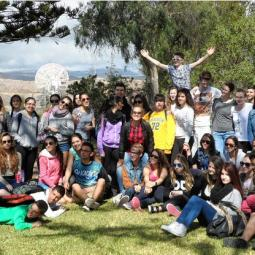 Bodmin College students with peers from French, Spanish and German schools taking part in the exchange project in Gran Canaria.